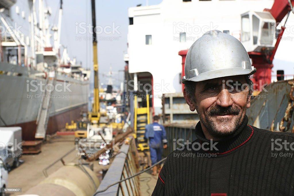 dockyard worker stock photo