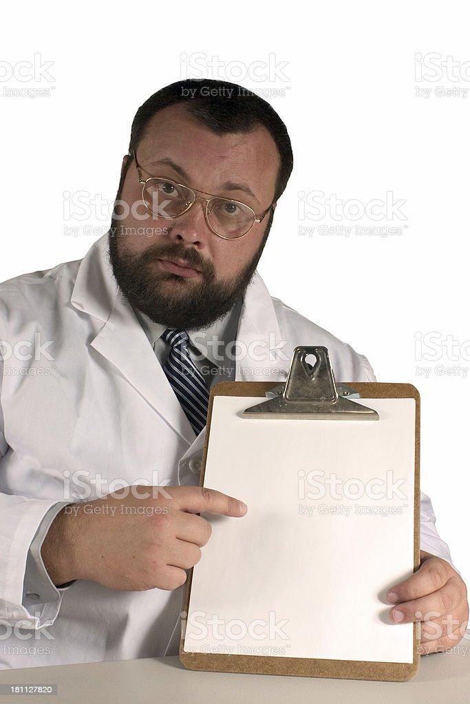 Doctor 09 -- Look here-2 stock photo