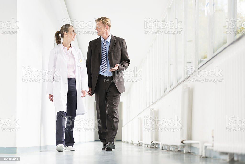 Doctor And Businessman stock photo