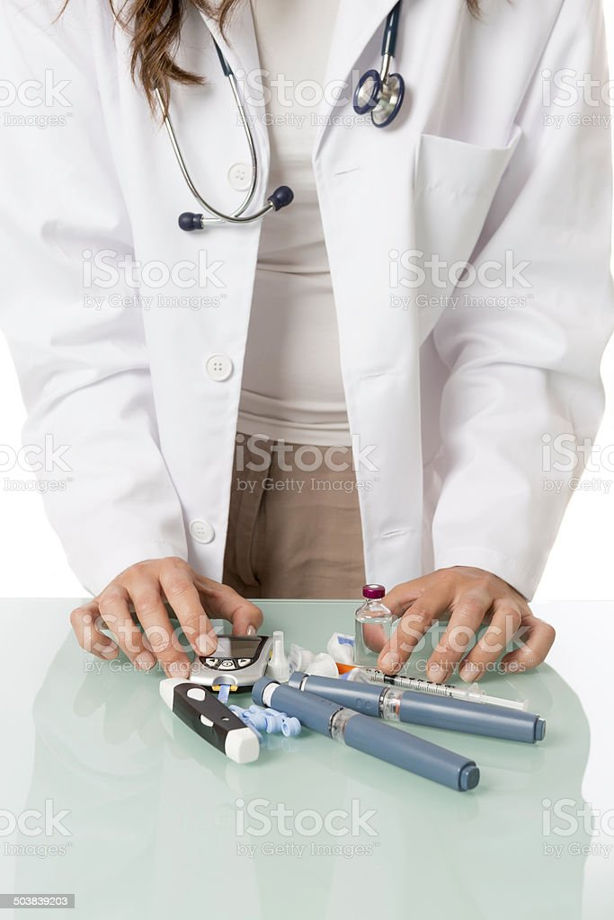 doctor and diabetic equipment royalty-free stock photo