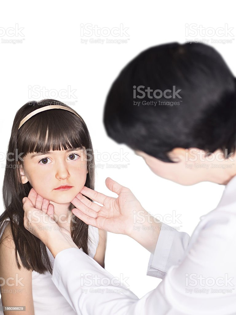 Doctor and girl isolated stock photo