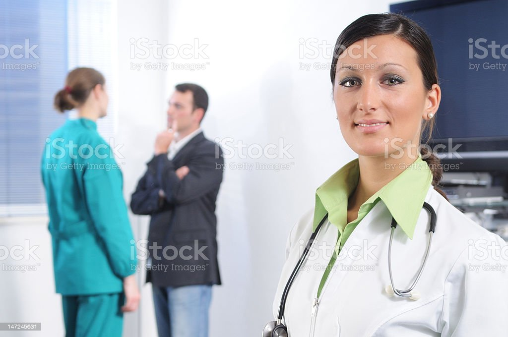 Doctor and health service royalty-free stock photo
