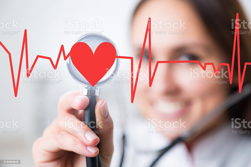 Doctor and heart stock photo