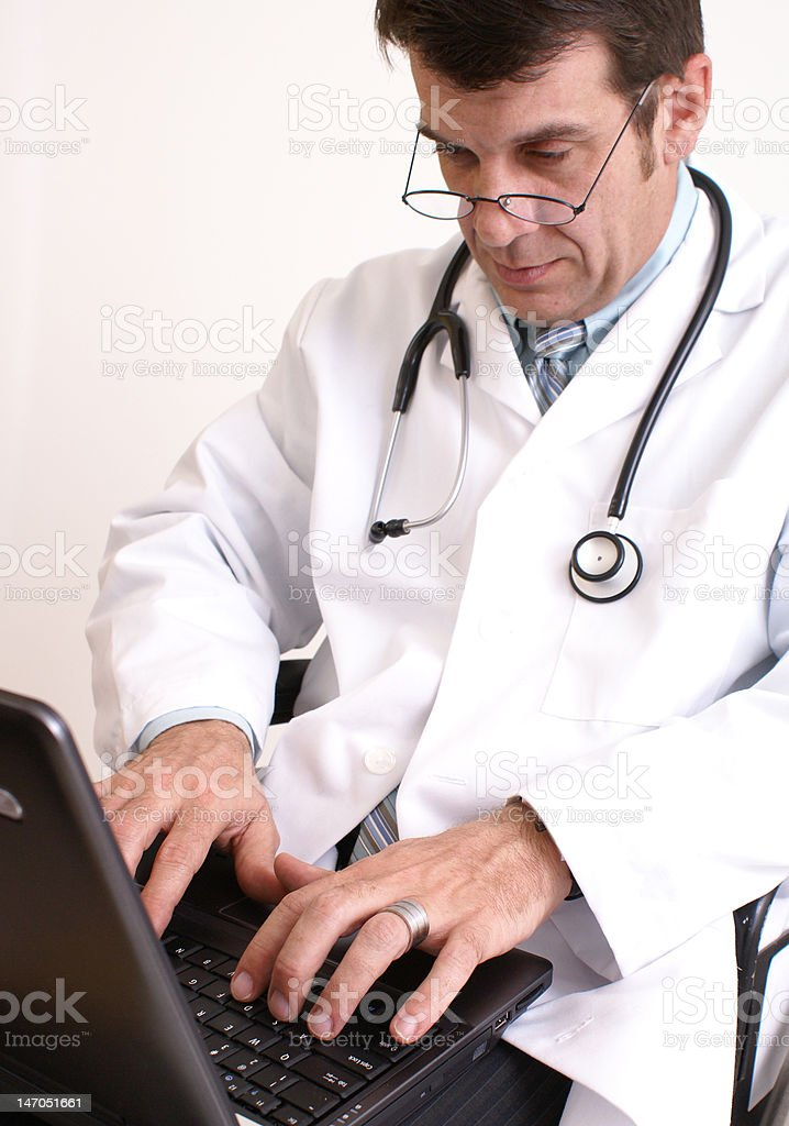 doctor and laptop royalty-free stock photo