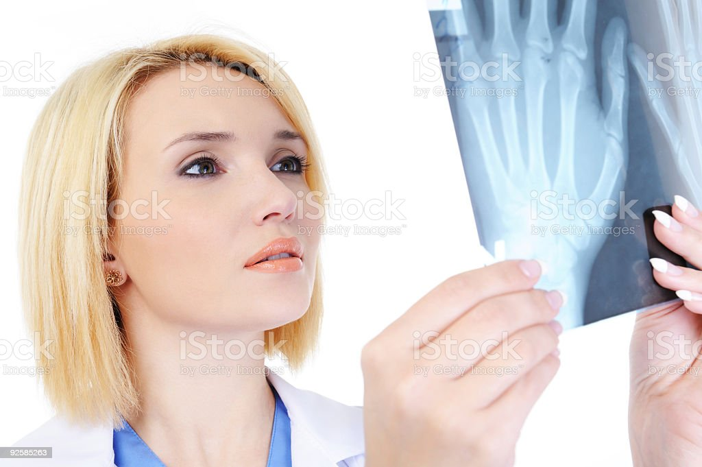 doctor and medical x-ray royalty-free stock photo