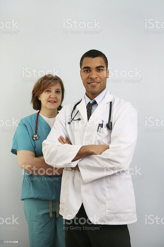 Doctor and nurse royalty-free stock photo
