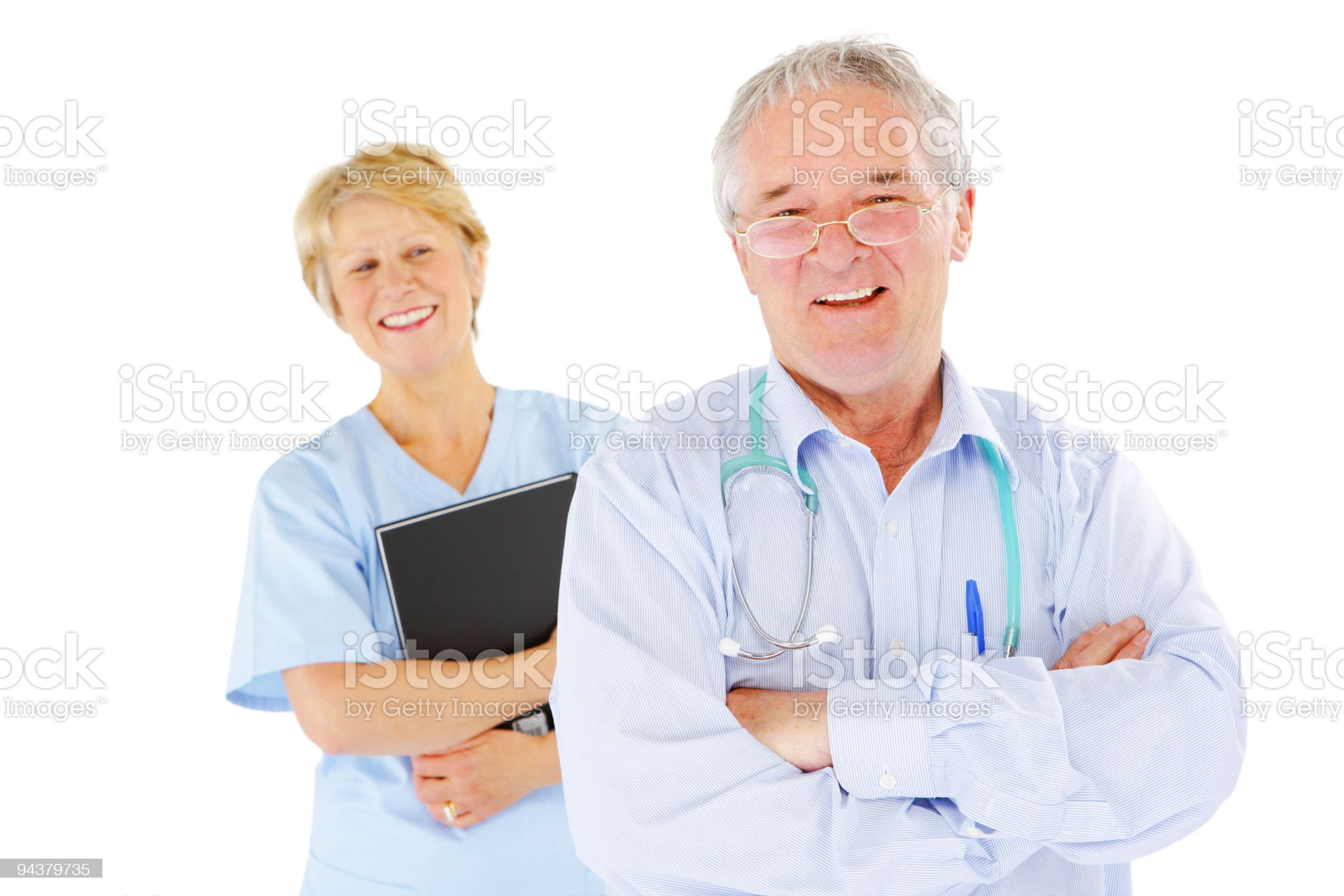 Doctor and Nurse standing royalty-free stock photo