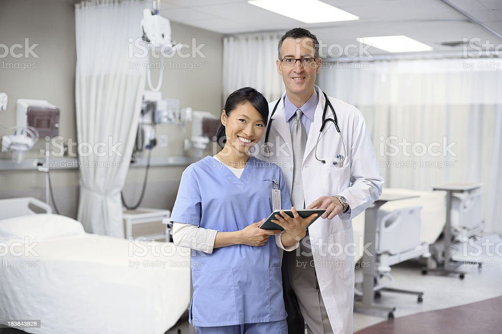 Doctor and Nurse working together royalty-free stock photo