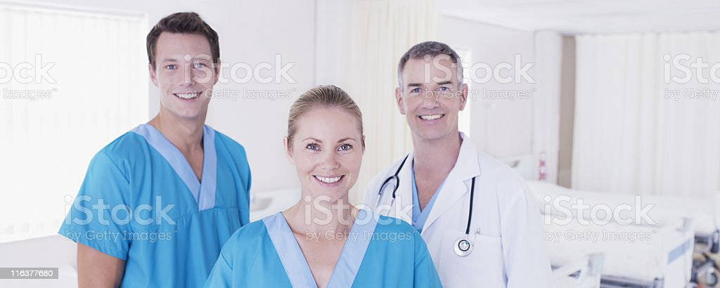 Doctor and nurses in hospital royalty-free stock photo