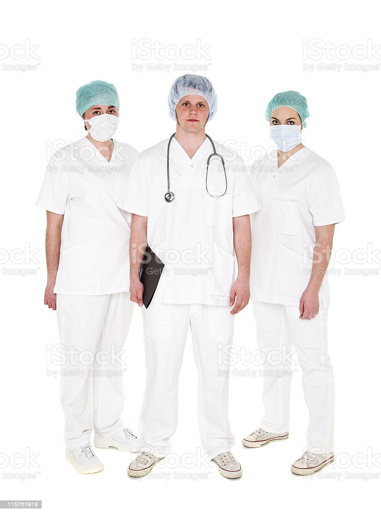 Doctor and Nurses royalty-free stock photo