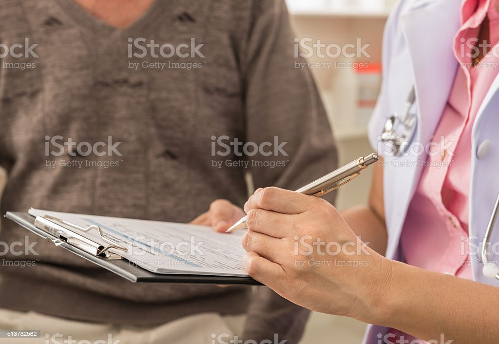 doctor and patien stock photo