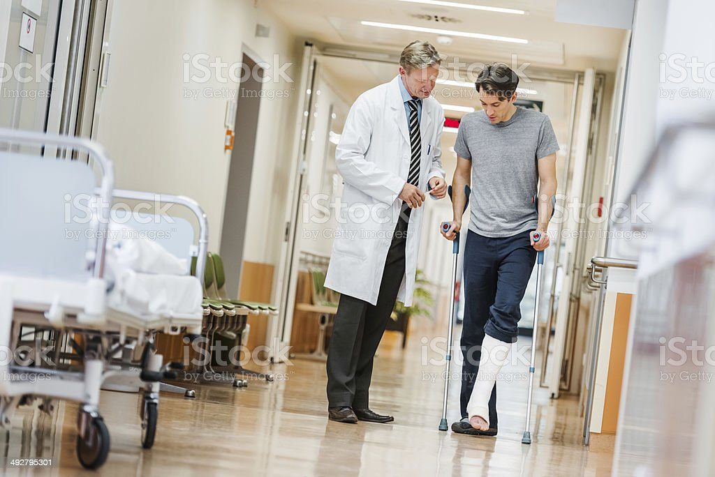 Doctor and Patient in Hospital stock photo