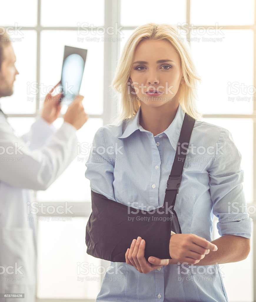 Doctor and patient stock photo