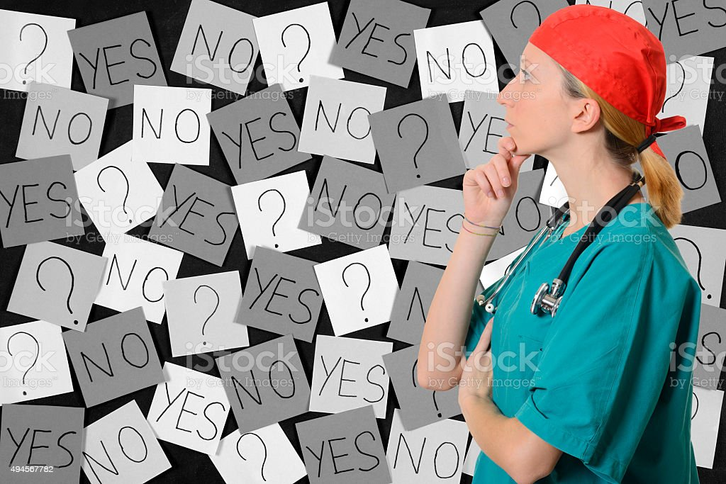 Doctor and Problems stock photo