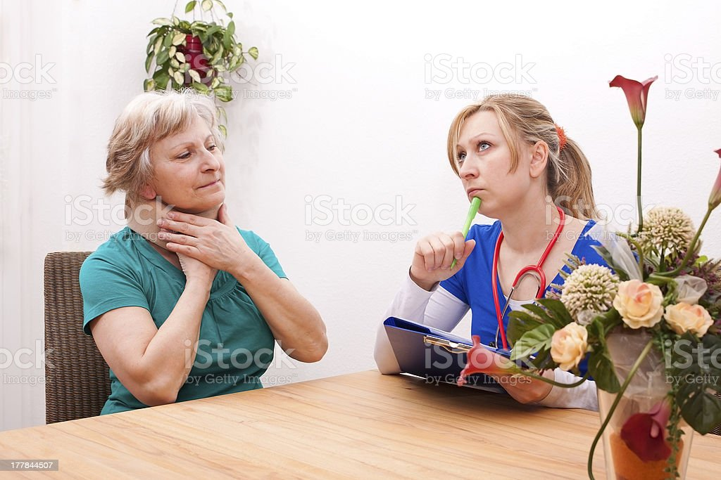 doctor and Senior with ruff royalty-free stock photo