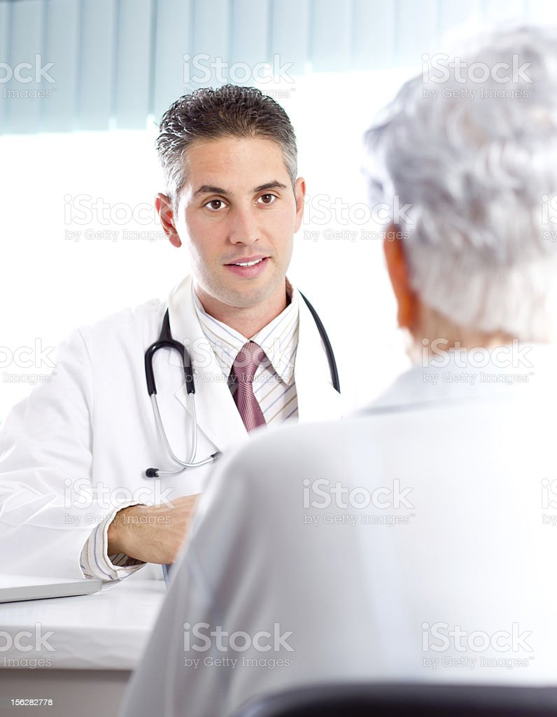 Doctor and senior woman royalty-free stock photo