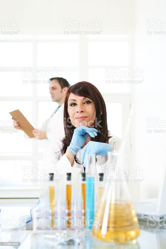 Doctor and Technician royalty-free stock photo