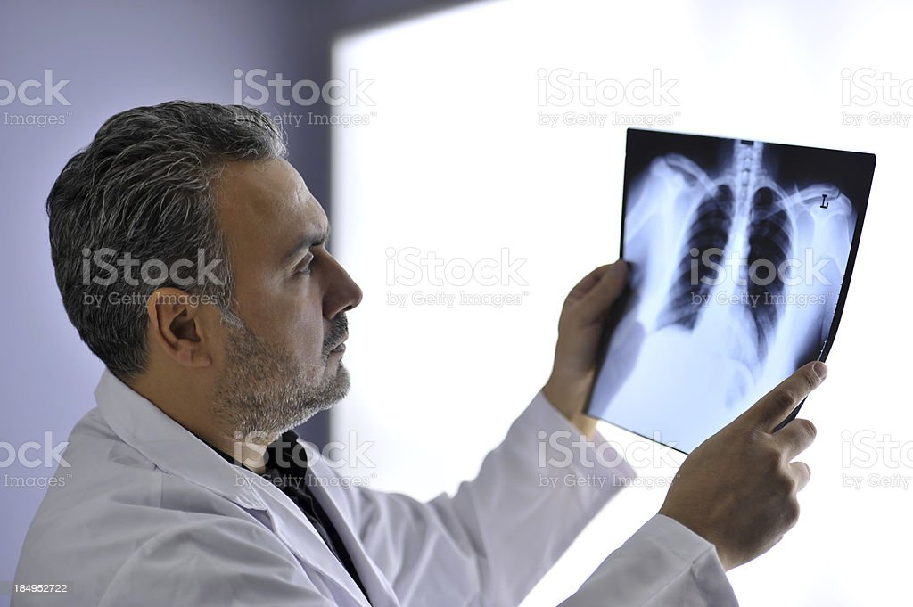 Doctor and X-ray stock photo