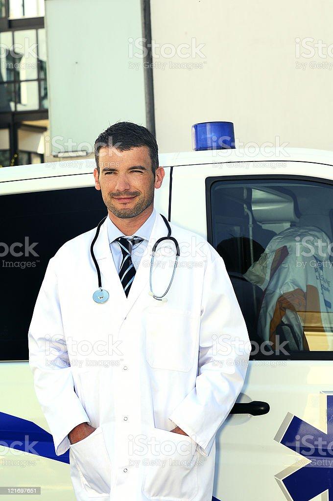 doctor ans ambulance royalty-free stock photo