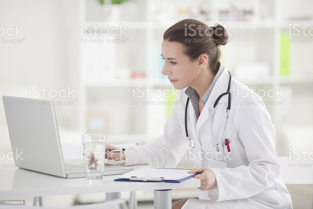Doctor at office. royalty-free stock photo
