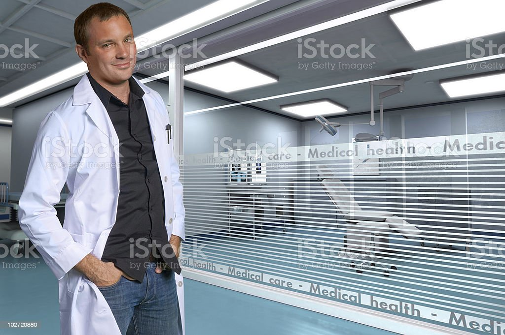 Doctor at the clinic royalty-free stock photo
