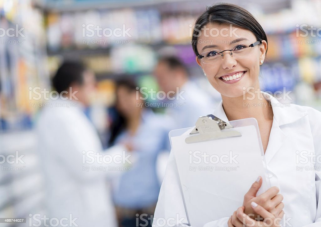 Doctor at the drugstore stock photo