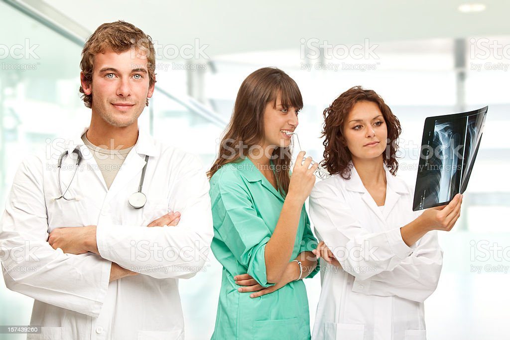doctor at work hospital stock photo