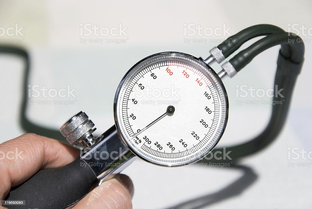 doctor blood pressure stock photo