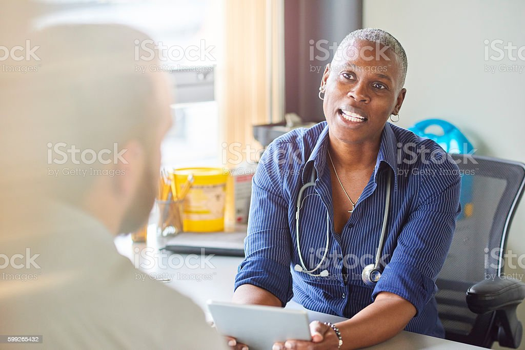 Doctor chat stock photo
