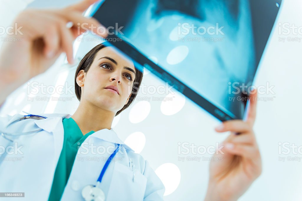 Doctor checking x ray royalty-free stock photo