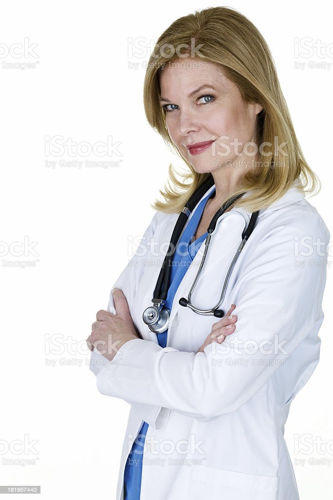 Doctor confidently standing royalty-free stock photo
