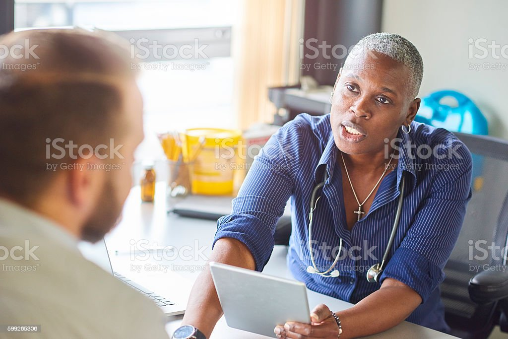 Doctor diagnosis stock photo