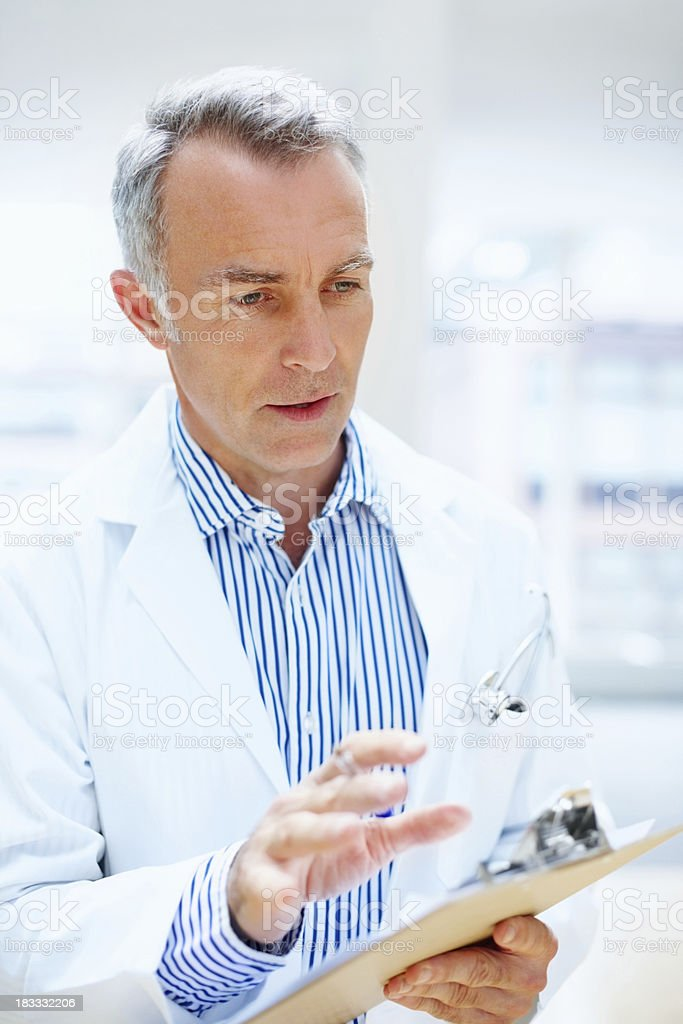 Doctor discussing options royalty-free stock photo
