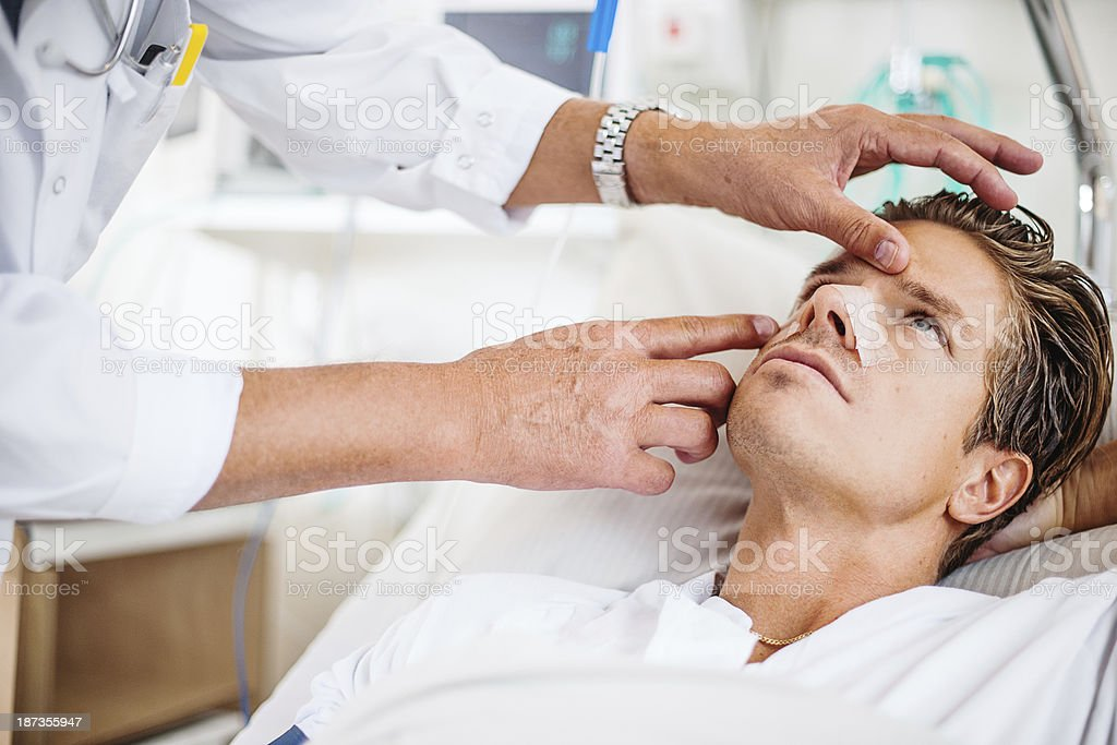 Doctor doing rounds stock photo