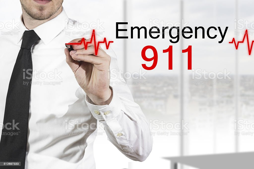 doctor drawing heartbeatline emergency 911 stock photo