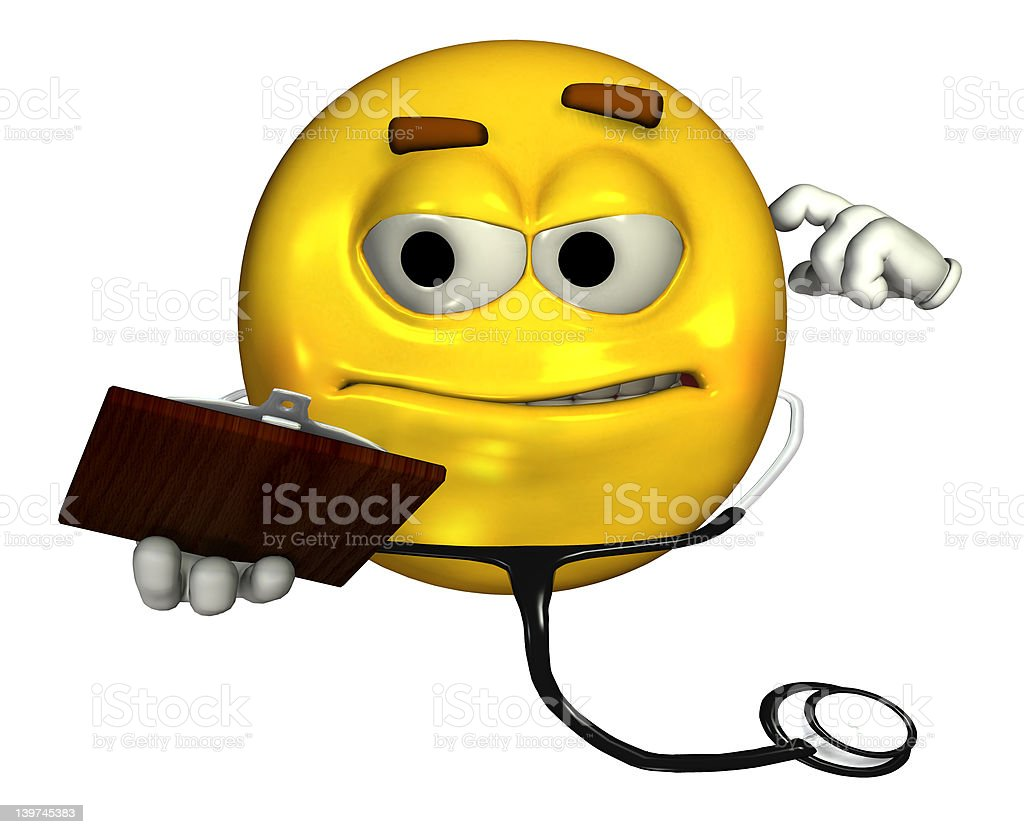 Doctor Emoticon - includes clipping path royalty-free stock photo