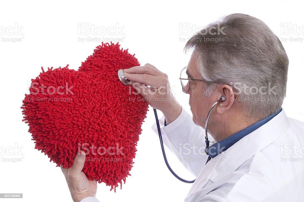 Doctor Examining Heart royalty-free stock photo