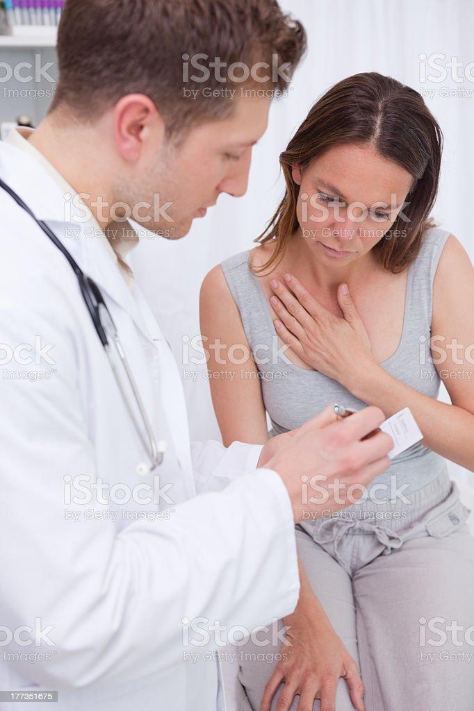 Doctor explaining examination results royalty-free stock photo