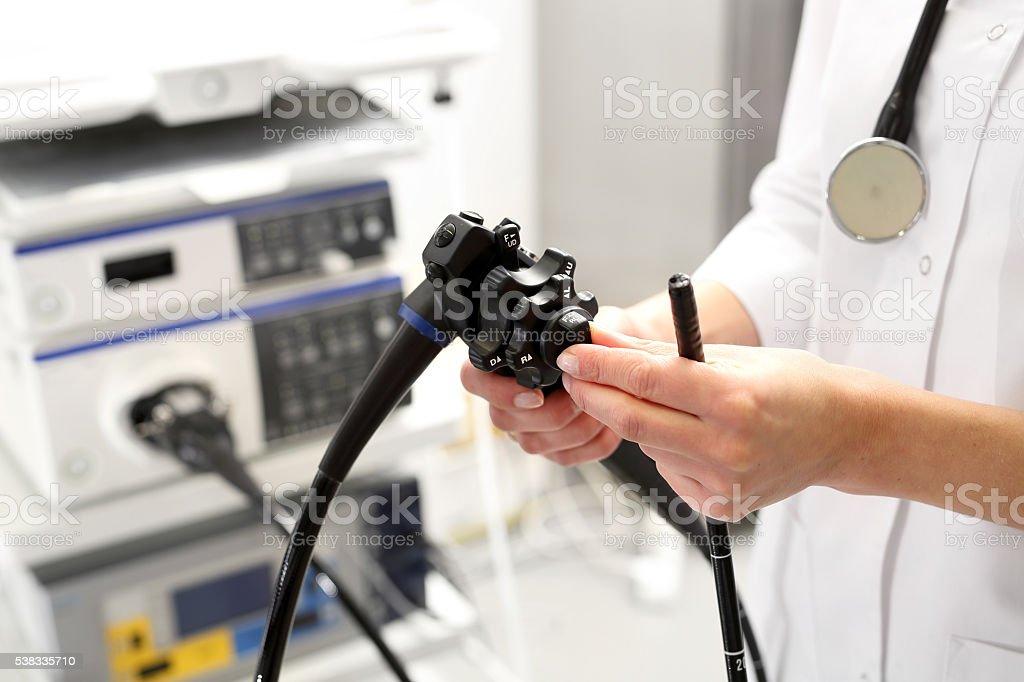 Doctor gastroenterologist. stock photo