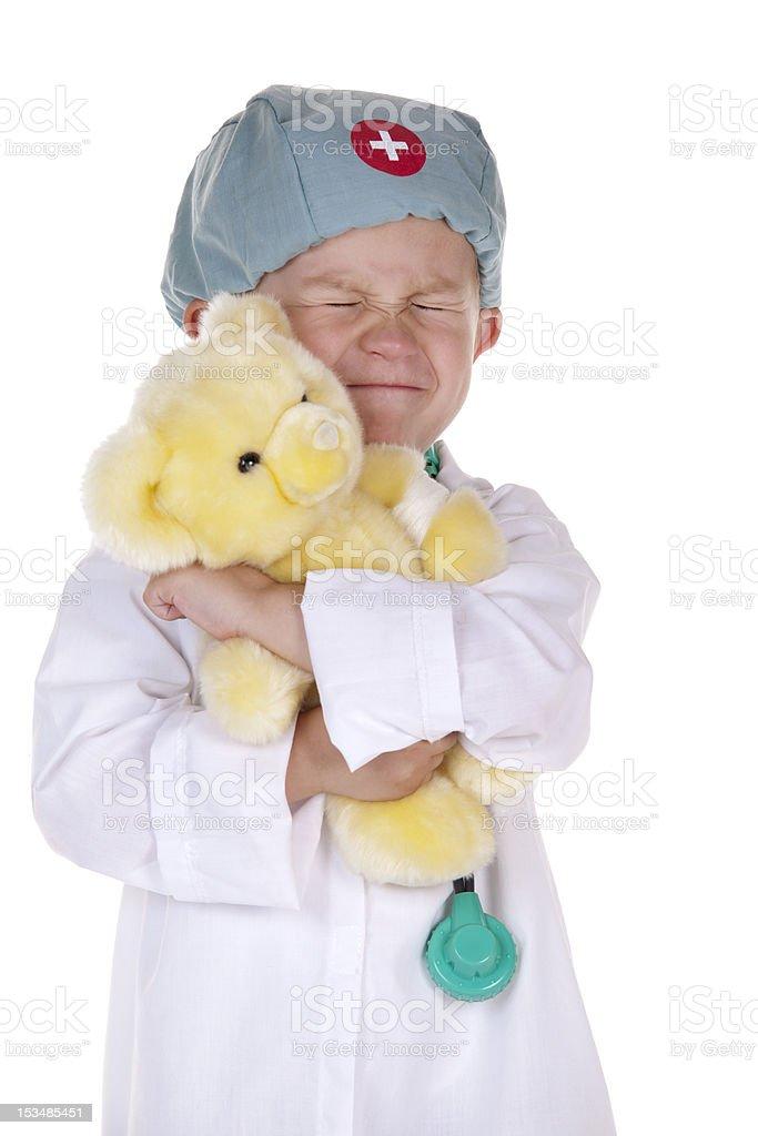 Doctor Give a big hug royalty-free stock photo