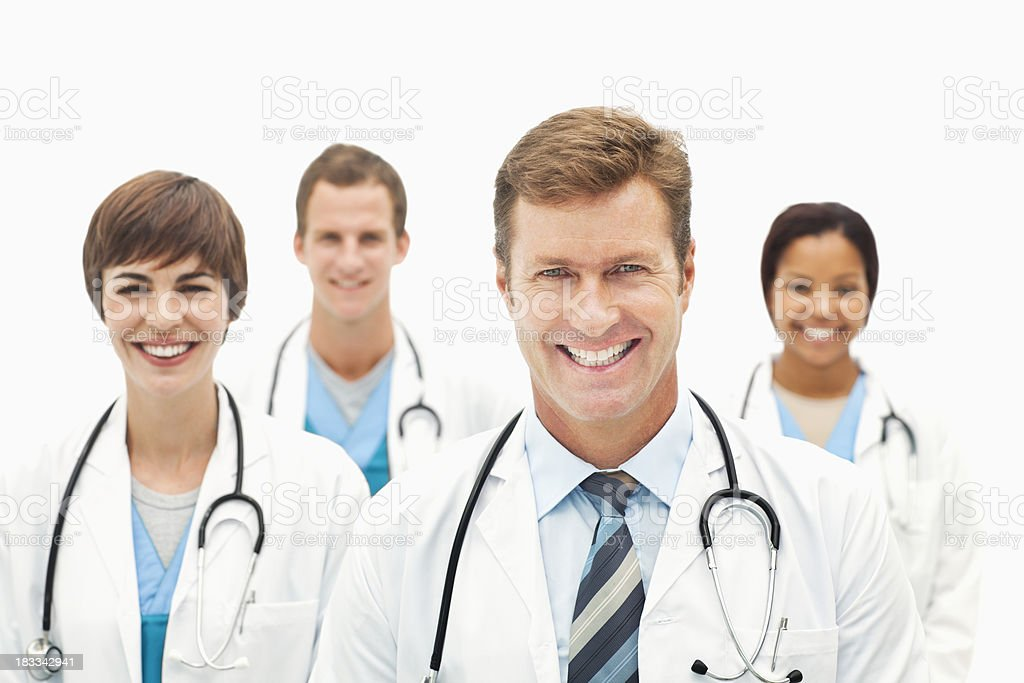 Doctor Group Portrait - Isolated royalty-free stock photo