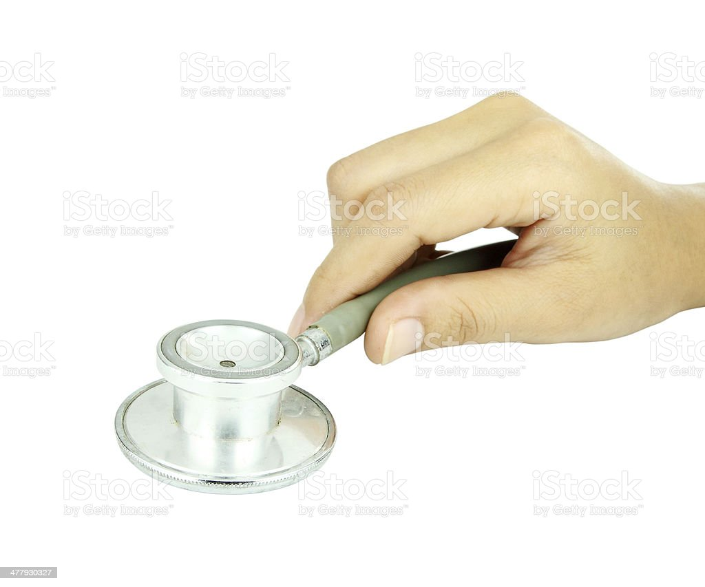 doctor hand with stethoscope royalty-free stock photo