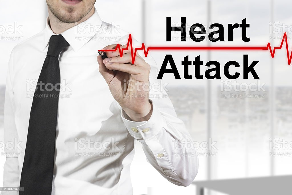 doctor heartbeat line heart attack stock photo