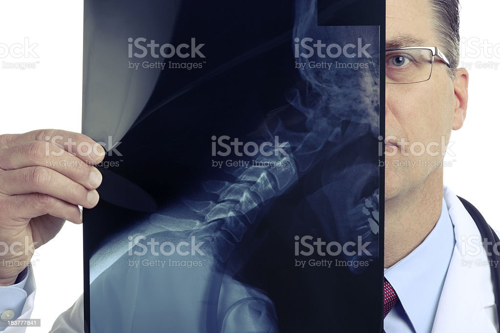 Doctor Holding an X-Ray royalty-free stock photo