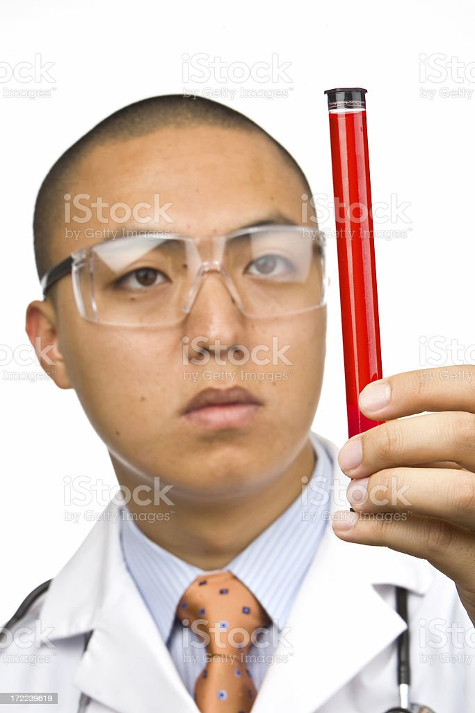 Doctor holding DNA sample royalty-free stock photo