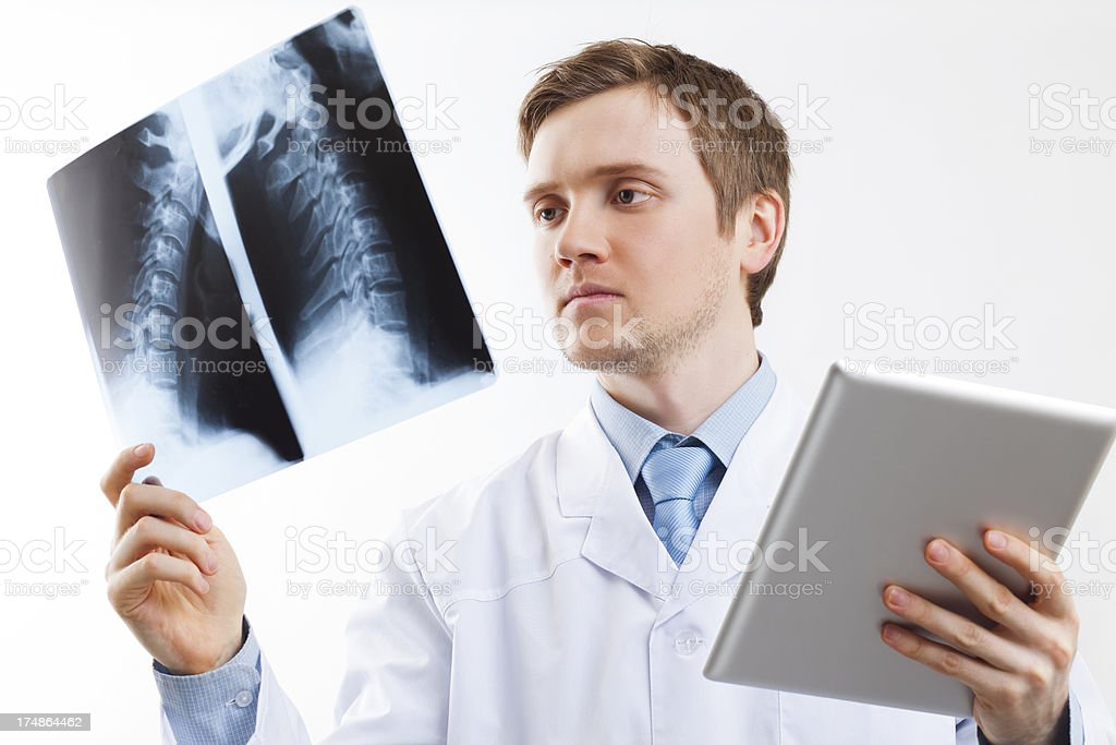 Doctor Holding Tablet PC royalty-free stock photo