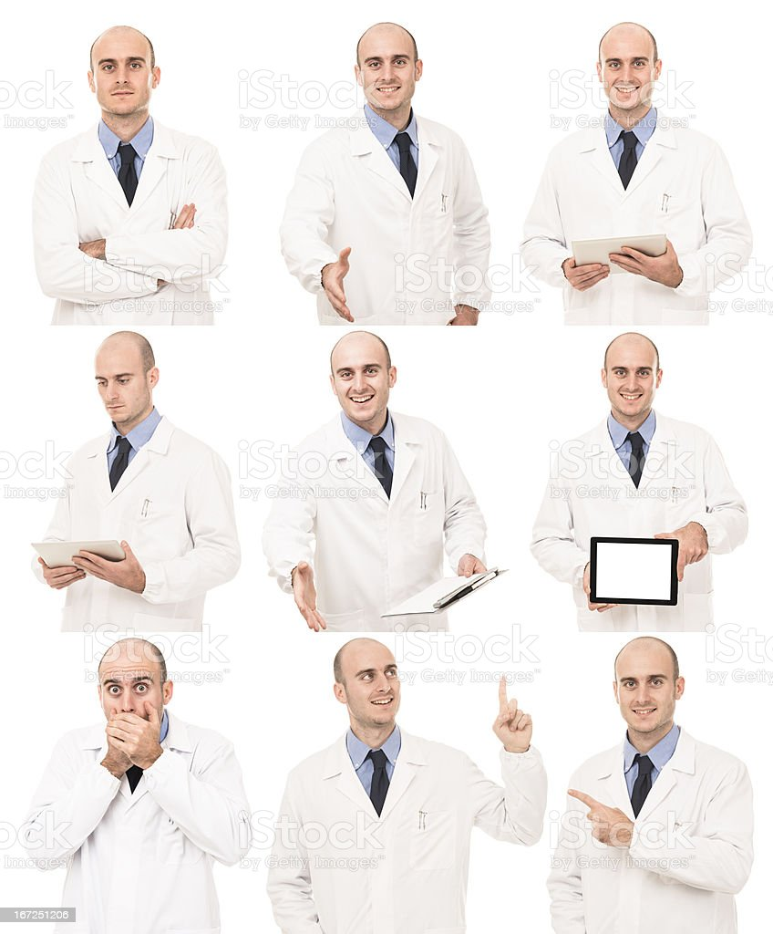 Doctor in various pose royalty-free stock photo