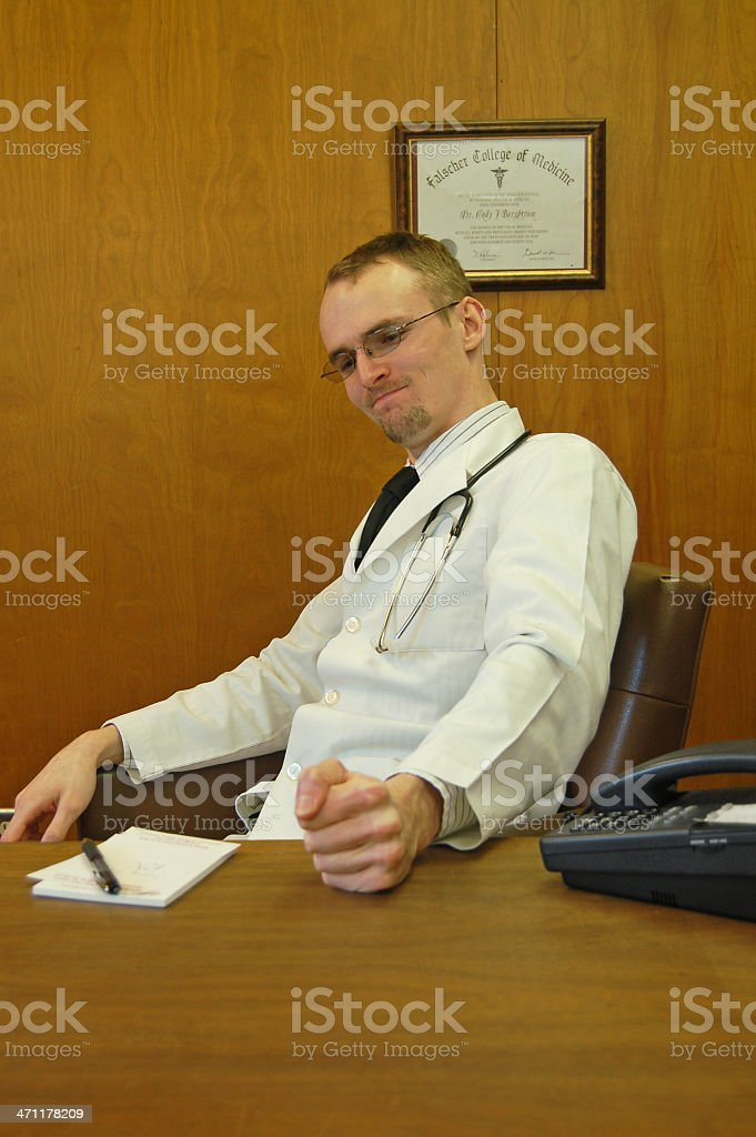 Doctor is Frustrated stock photo