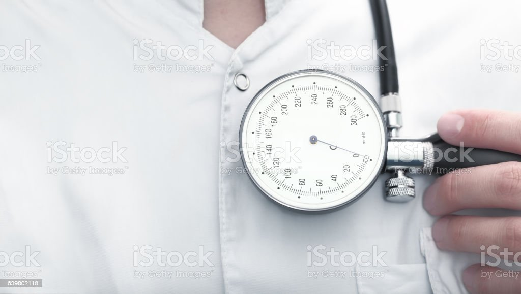 Doctor is ready to start treatment stock photo