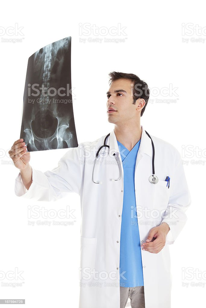 Doctor looking at x-ray royalty-free stock photo